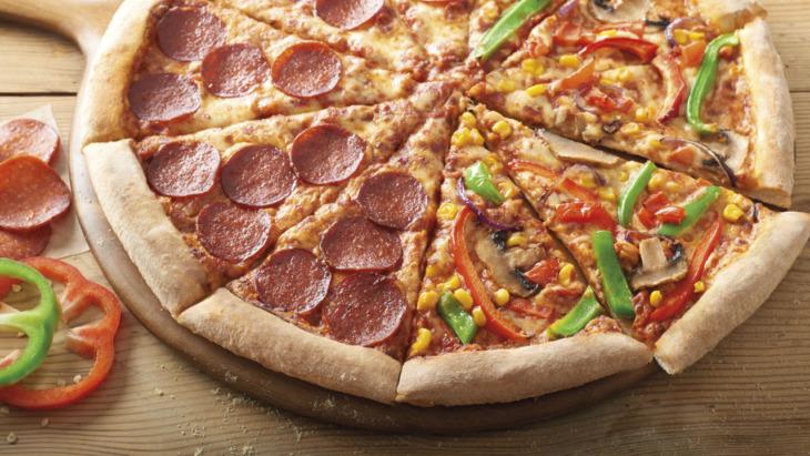 Dominos half and half pizza