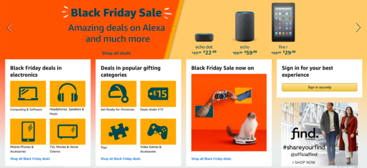 In its element: Amazon took Cyber Week 2019 by storm.