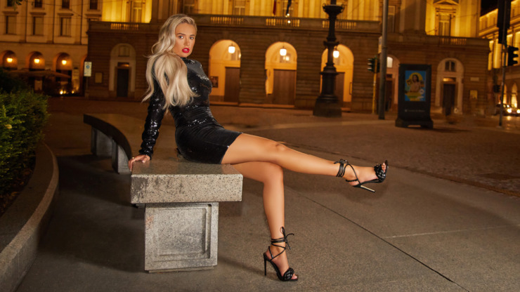 Image of Ego Shoes modelled by Molly-Mae.