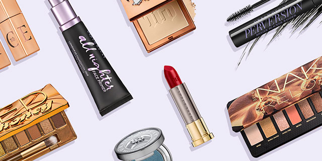 Urban Decay makeup products.