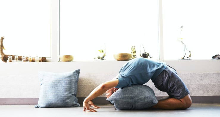 Many people turned to at-home fitness solutions in the first UK lockdown, such as yoga.