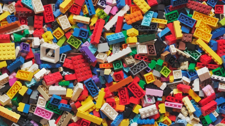 A pile of lego - one of the toys Gen Z is likely to feel nostalgia for