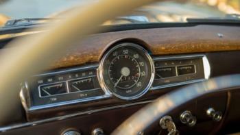 A vintage car dashboard