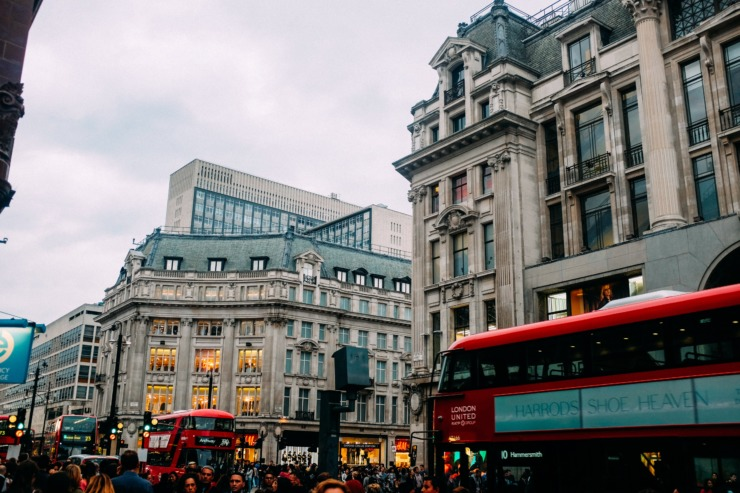 Oxford Street, a bustling shopping hub in central London.
