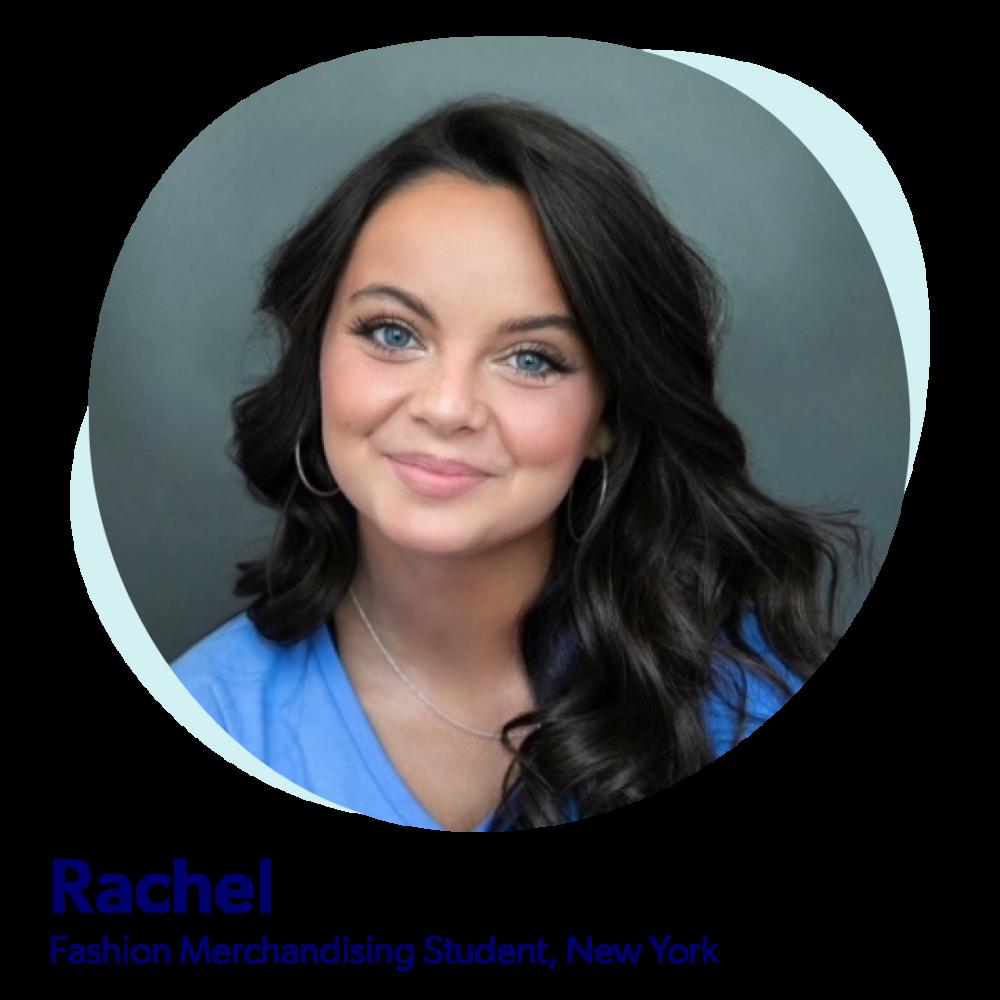 Rachel, Fashion Merchandising student