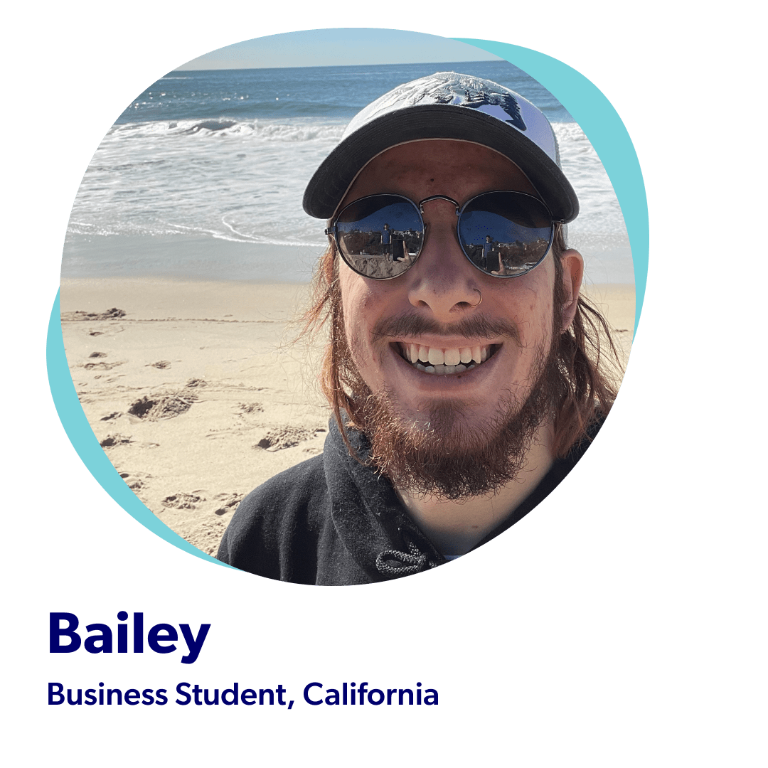 Bailey, a Business Student from California