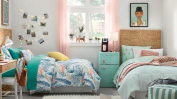 A dorm room ready for Back to School season