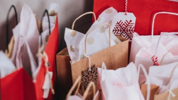 collection of Christmas shopping bags