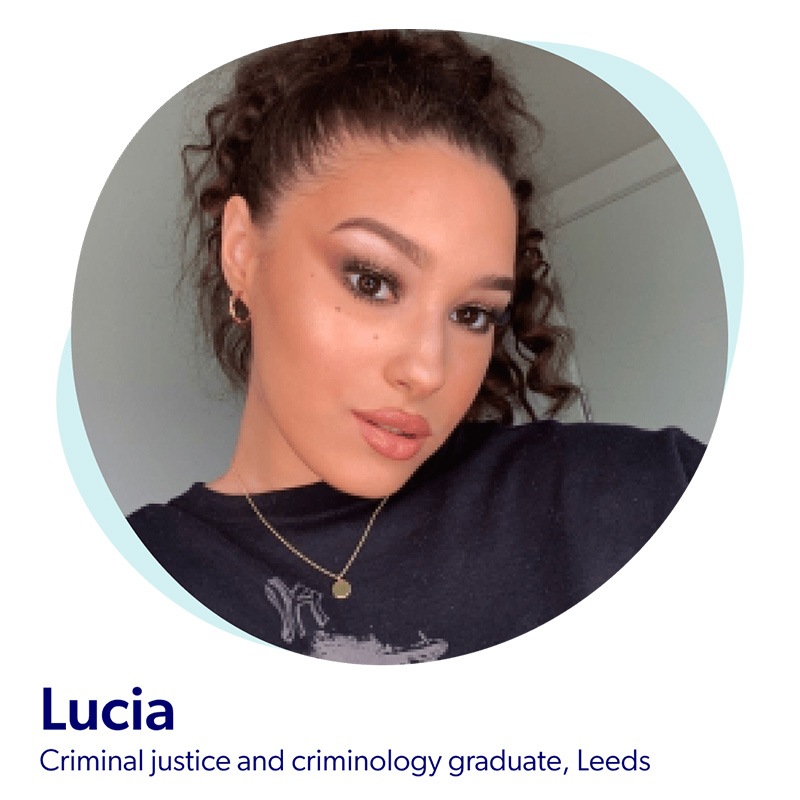 Lucia, a criminal justice and criminology graduate from Leeds