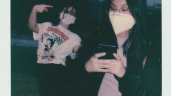 Some young authentic gen zs in a polaroid picture